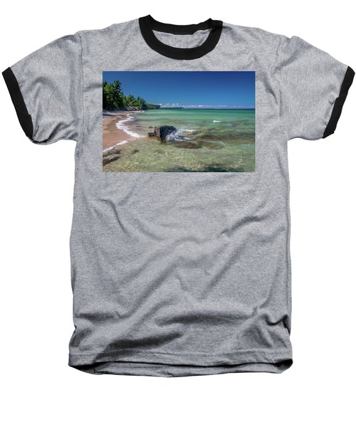 Secluded Beach Baseball T-Shirt