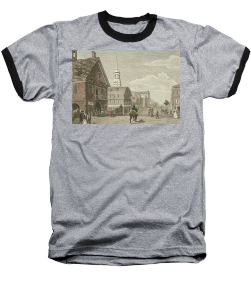 Second Street North From Market St. And Christ Church Baseball T-Shirt
