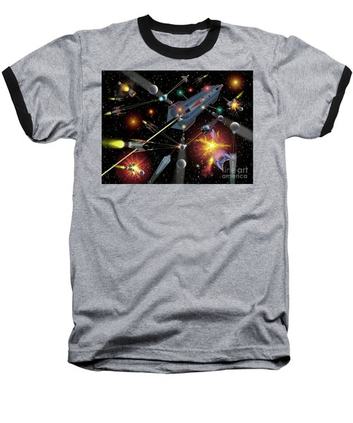 Sferogyls Space Battle Group Baseball T-Shirt