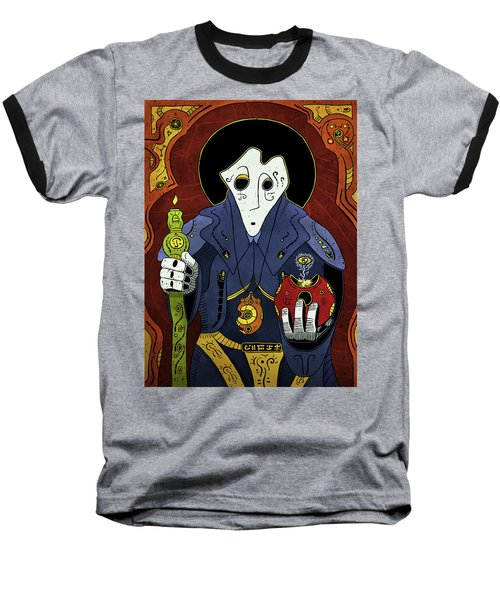 Baseball T-Shirt featuring the painting Shadow Priest by Sotuland Art