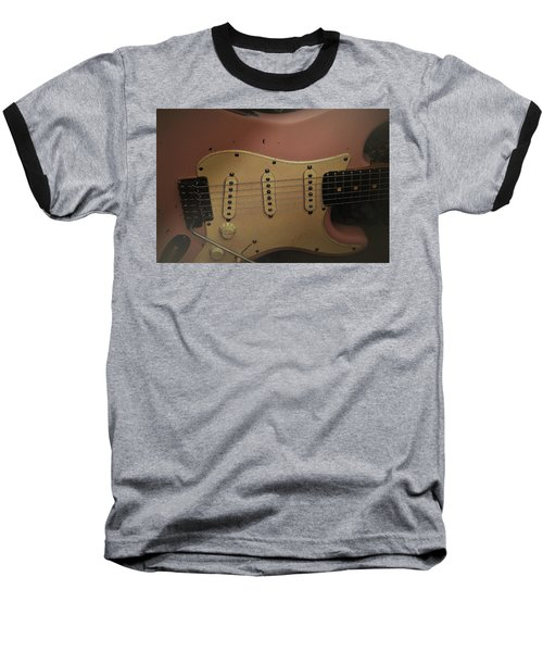 Baseball T-Shirt featuring the photograph Shelly Pink Guitar by Guitar Wacky