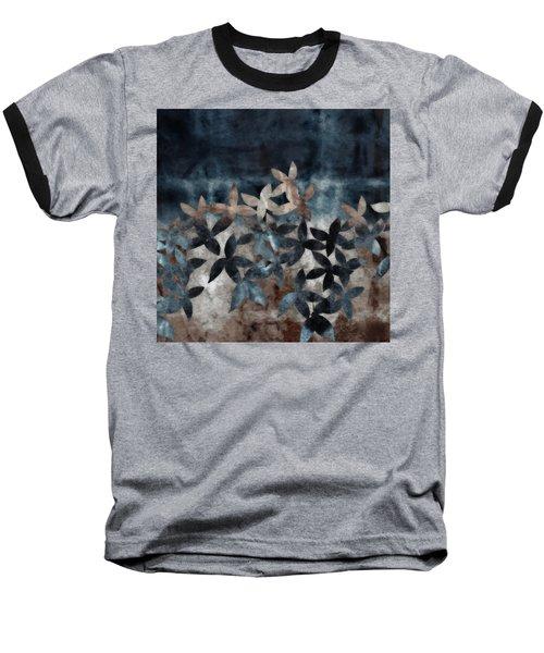 Shibori Leaves Indigo Print Baseball T-Shirt