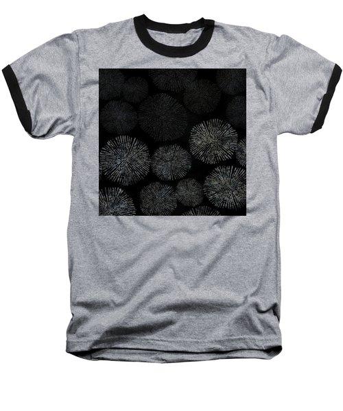 Shibori Sea Urchin Burst Pattern Baseball T-Shirt