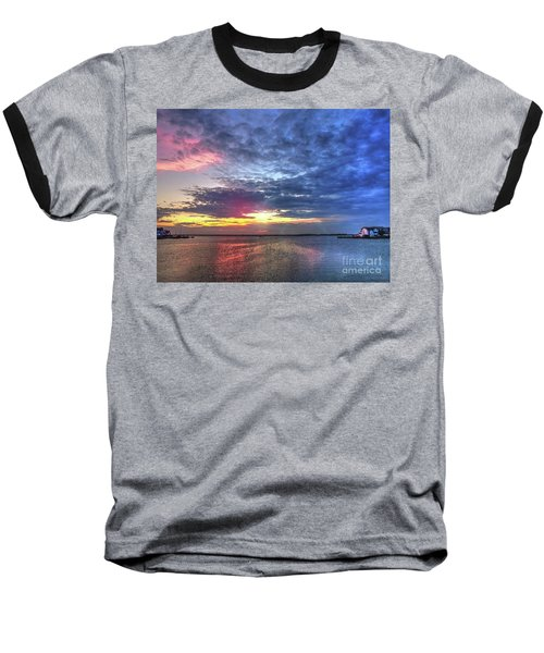 Ship Bottom Sunset Baseball T-Shirt