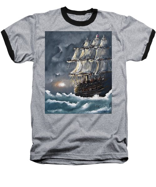 Ship Voyage Baseball T-Shirt