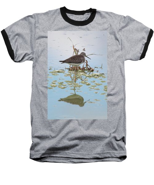 Shorebird Reflection Baseball T-Shirt