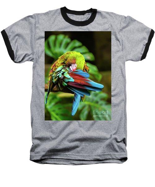 Shy Parrot Baseball T-Shirt
