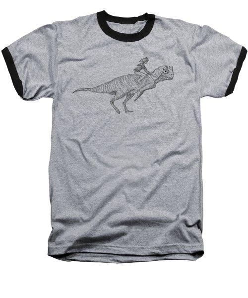 Siberian Dinosaur Baseball T-Shirt