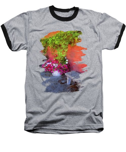 Sidewalk Floral In Brownsville Baseball T-Shirt