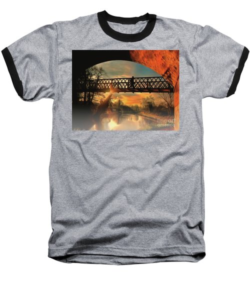 Baseball T-Shirt featuring the photograph Silhouettes And Shadows by Leigh Kemp