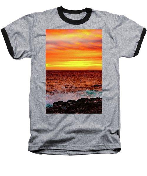 Simple Warm Splash Baseball T-Shirt
