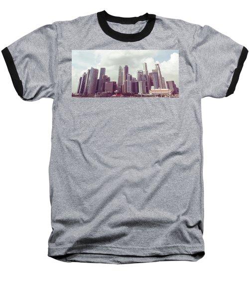 Singapore Cityscape The Second Baseball T-Shirt
