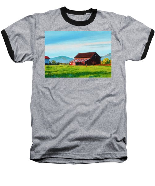 Skagit Valley Barn Baseball T-Shirt