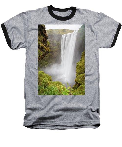 Skogafoss Iceland Baseball T-Shirt