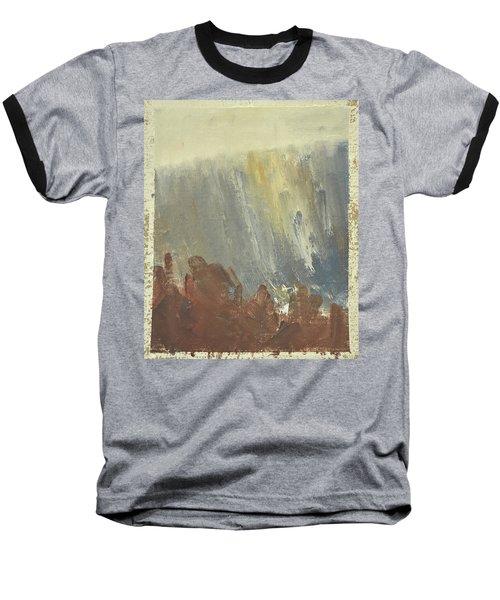 Skogklaedd Fjaellvaegg I Hoestdimma- Mountain Side In Autumn Mist, Saelen _1237, Up To 90x120 Cm Baseball T-Shirt