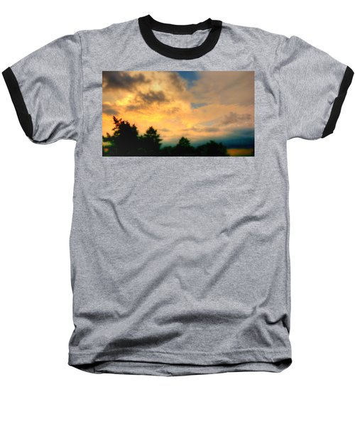 Sky On Fire Baseball T-Shirt