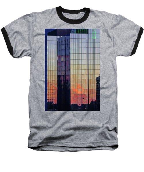 Skyscraper Sunset Baseball T-Shirt