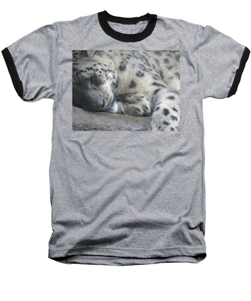 Sleeping Cheetah Baseball T-Shirt