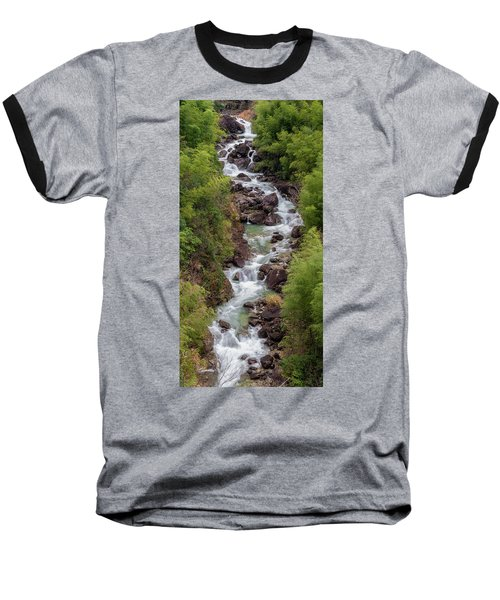 Small Cascade 1x2 Vertical Baseball T-Shirt
