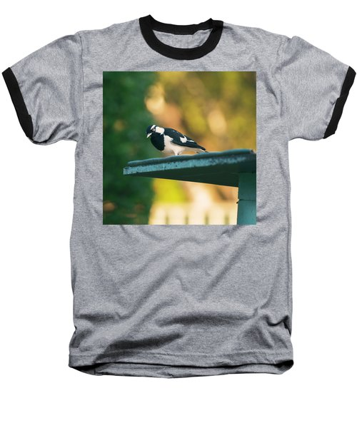 Small Magpie Lark Outside In The Afternoon Baseball T-Shirt