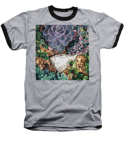 Small Succulent Garden Baseball T-Shirt
