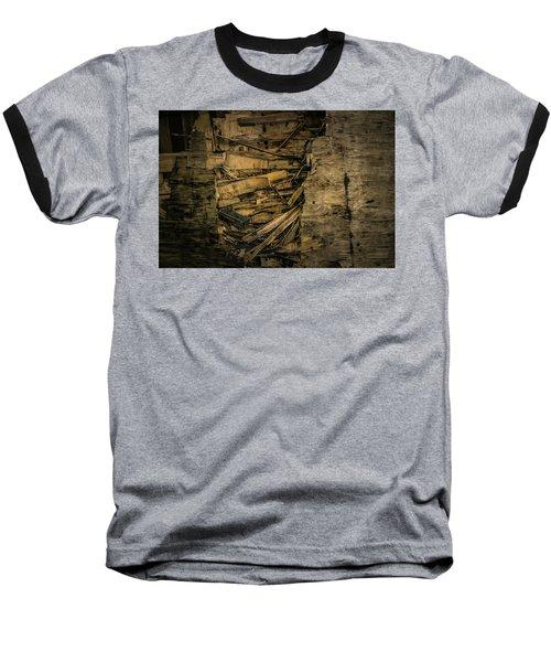 Smashed Wooden Wall Baseball T-Shirt