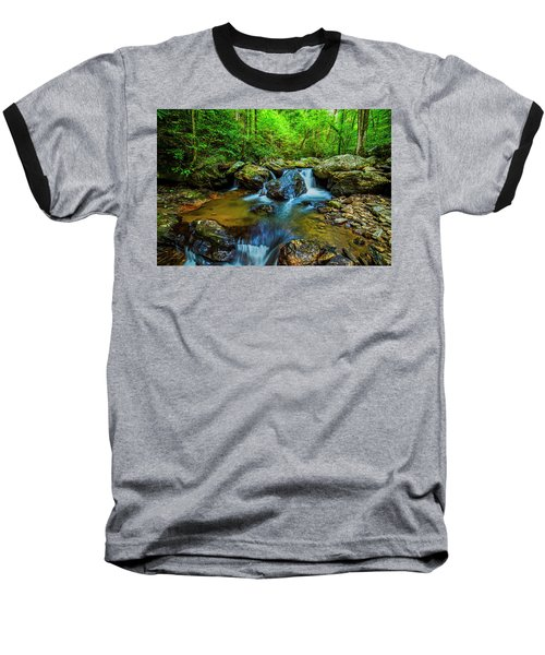 Baseball T-Shirt featuring the photograph Smith Creek Cascade by Andy Crawford