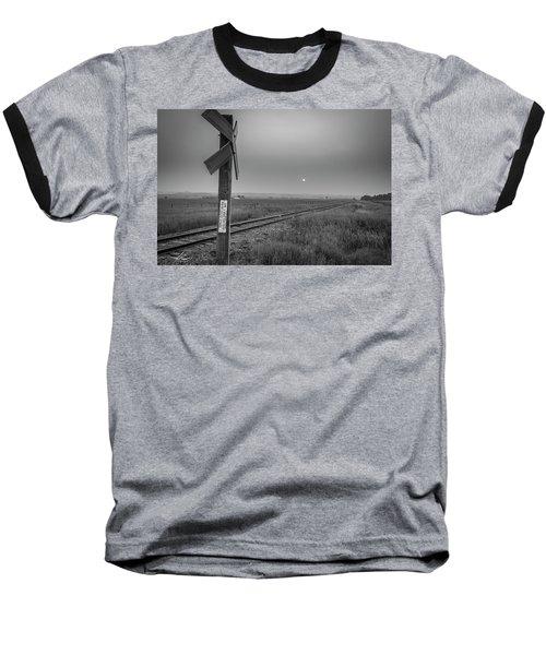 Smoke Haze Over The Prairie Baseball T-Shirt