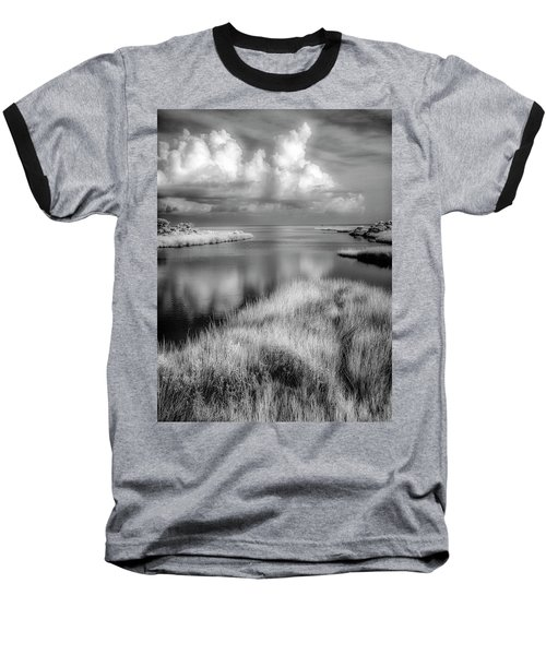 Smooth Waters Bw Baseball T-Shirt
