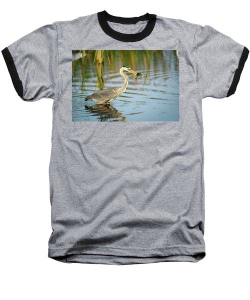 Snack Time For Blue Heron Baseball T-Shirt