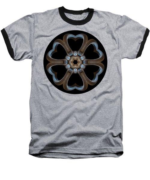 Snake Mandala Baseball T-Shirt