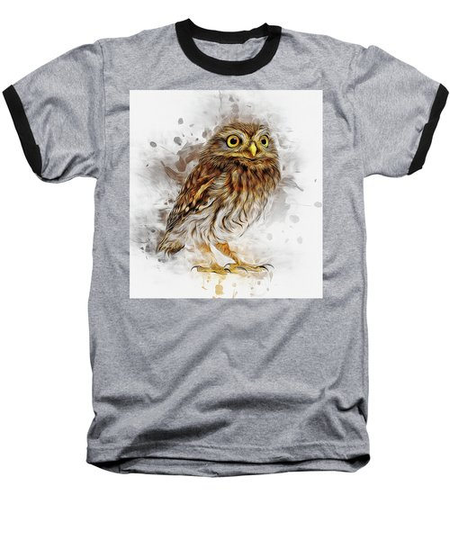 Snow Owl Baseball T-Shirt