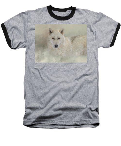 Snow Wolf Baseball T-Shirt