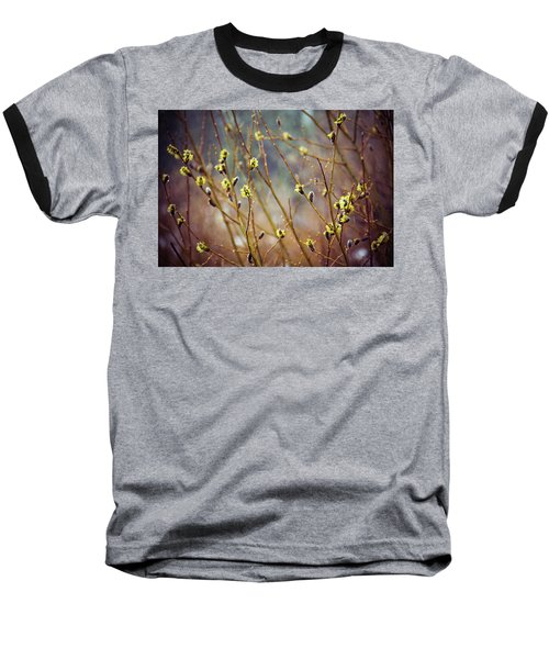 Snowfall On Budding Willows Baseball T-Shirt