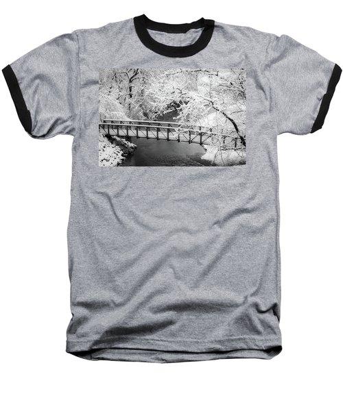 Snowy Bridge On Mill Creek Baseball T-Shirt