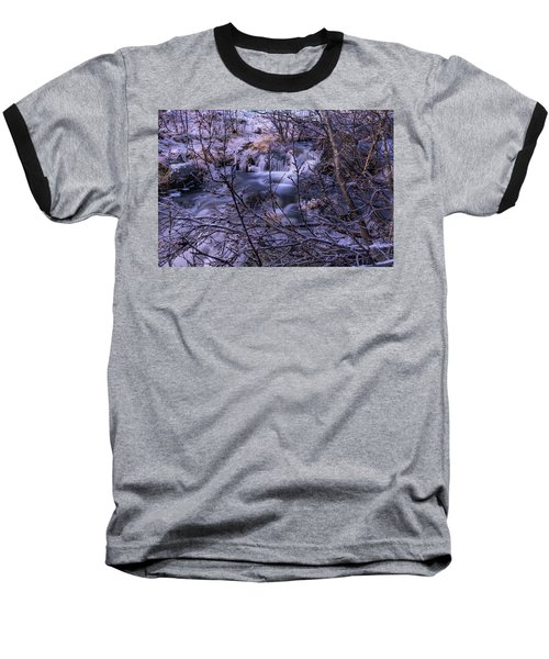 Snowy Forest With Long Exposure Baseball T-Shirt