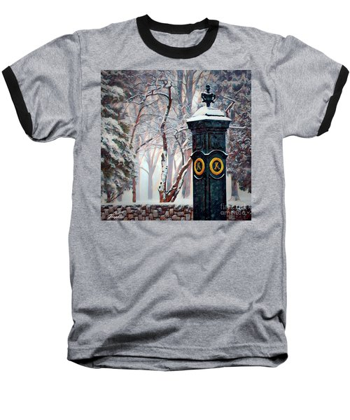 Snowy Keeneland Baseball T-Shirt
