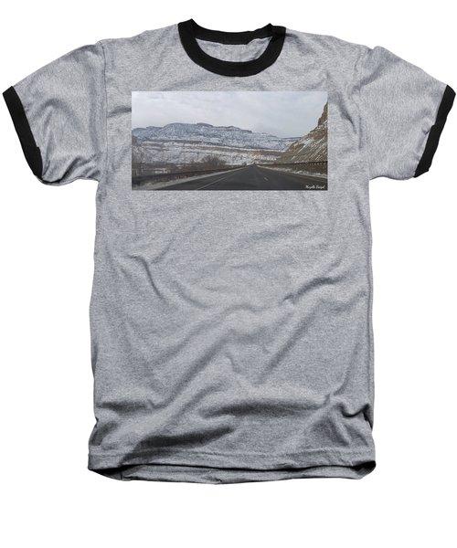 Snowy Mountain Road Baseball T-Shirt