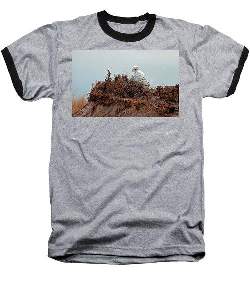 Snowy Owl In The Dunes Baseball T-Shirt