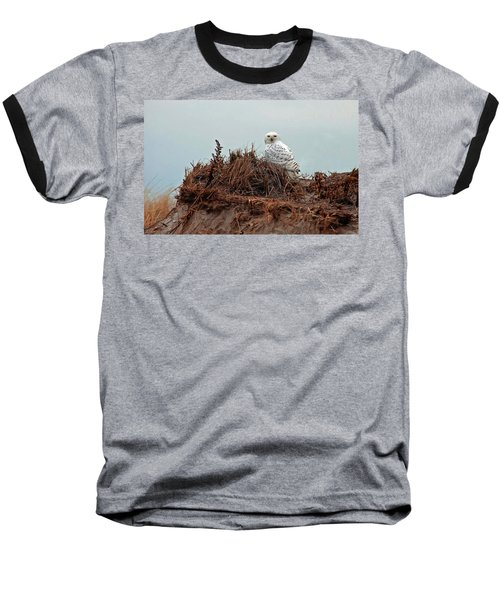 Snowy Owl In The Dunes Baseball T-Shirt