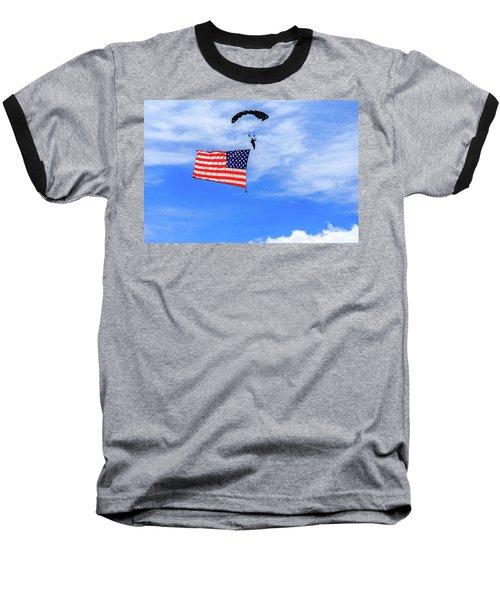 Socom Flag Jump Baseball T-Shirt