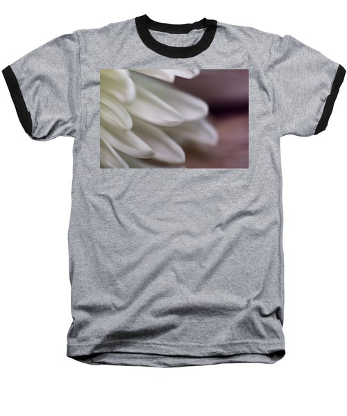 Soft White Petals-1 Baseball T-Shirt