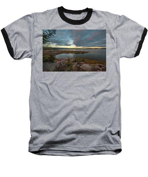 Somes Sound Sunset Baseball T-Shirt