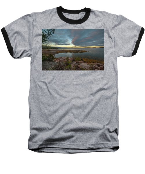 Somes Sound Sunset Baseball T-Shirt