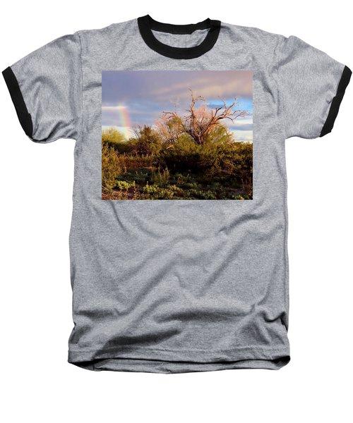 Sonoran Desert Spring Rainbow Baseball T-Shirt