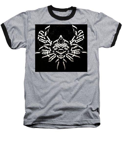 Space Crab. Calligraphic Abstract Baseball T-Shirt