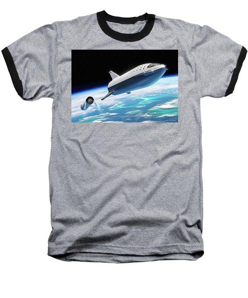 Spacex Bfr Big Falcon Rocket With Earth Baseball T-Shirt