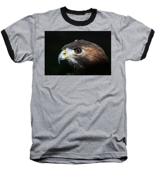 Sparkle In The Eye - Red-tailed Hawk Baseball T-Shirt
