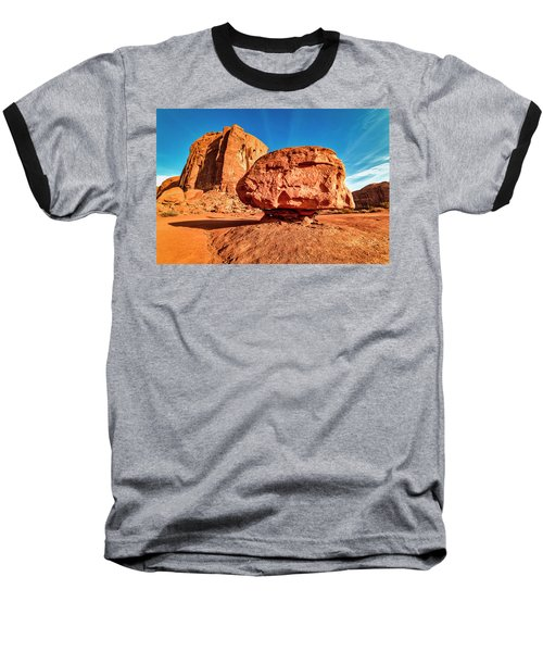 Baseball T-Shirt featuring the photograph Spearhead Mesa's Balancing Rock by Andy Crawford