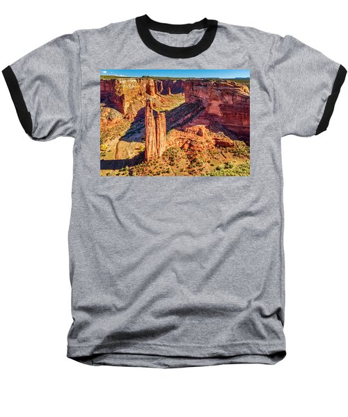 Baseball T-Shirt featuring the photograph Spider Rock by Andy Crawford
